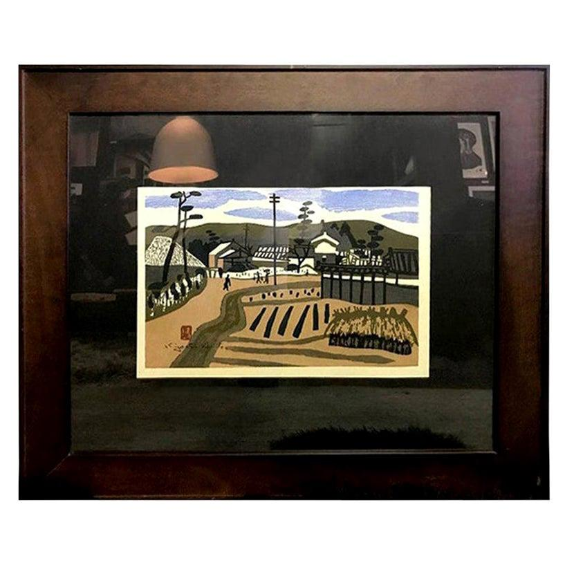 """Kiyoshi Saito Signed Japanese Woodblock Print """"Summer in Aizu"""""""