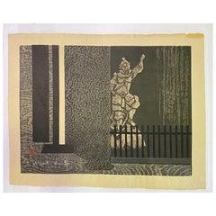Kiyoshi Saito Signed Limited Edition Japanese Print Tofuku-Ji, Kyoto 'A', 1961