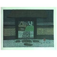 Kiyoshi Saitō Signed Limited Edition Japanese Woodblock Print Onri-An Kyoto D
