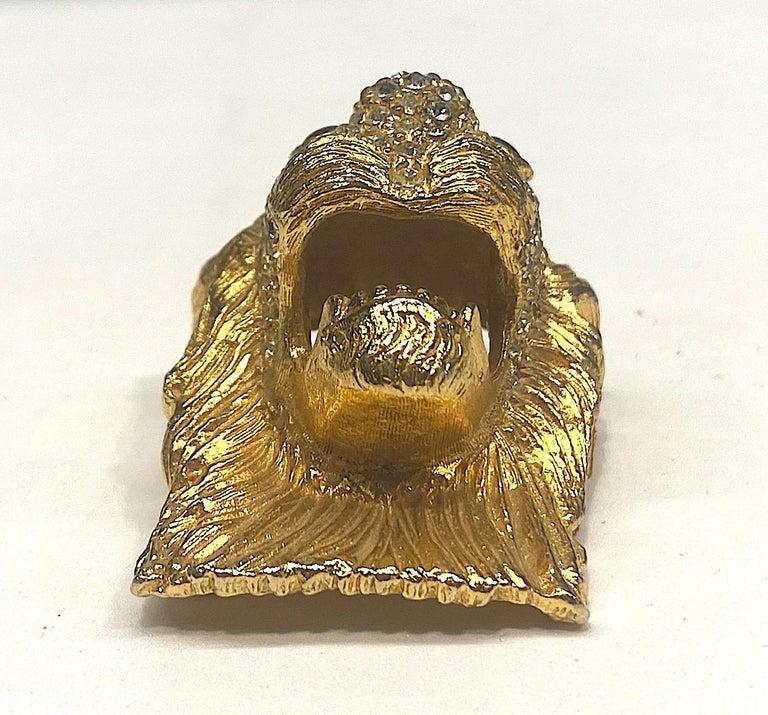 K.J. L. Kenneth Jay Lane Early Lion Head Brooch For Sale 2