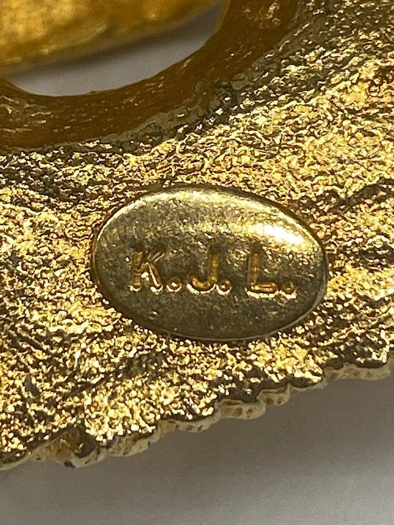 K.J. L. Kenneth Jay Lane Early Lion Head Brooch For Sale 3