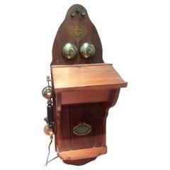 Kjøbenhavns Telefon Aktieselskab (KTAS) Wall Phone Scandinavia 19th-20th Century