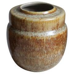 Kjell Bolinder, Small Organic Studio Vase, Stoneware Höganäs, Sweden, 1969