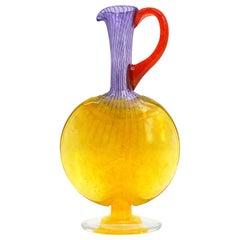 Kjell Engman Art Glass Carafe, Late 1990s, 1999