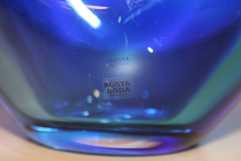 Art Glass Kjell Engman for Kosta Boda Vase For Sale