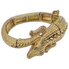 KJL Bracelet Vintage 1970s Alligator KJL