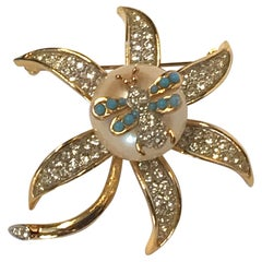 K.J.L. Kenneth Jay Lane Early Flower Brooch
