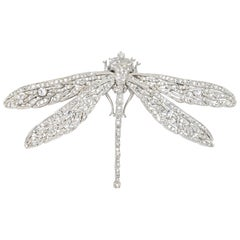 KJL Kenneth Jay Lane Silver Crystal Dragonfly Pin Brooch