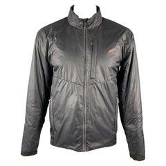 KJUS Size XL Black Polyamide High Collar Full Zip Zip Pockets Jacket