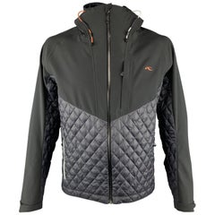 KJUS Size XL Quilted Black Polyester Full Zip Jacket