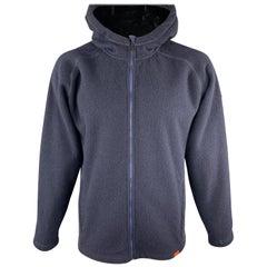 KJUS Size XXL Navy & Charcoal Polyester Blend Hooded Zip Up Jacket