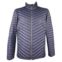 KJUS Size XXL Navy Quilted Goose Down Polyamide Zip Up Jacket