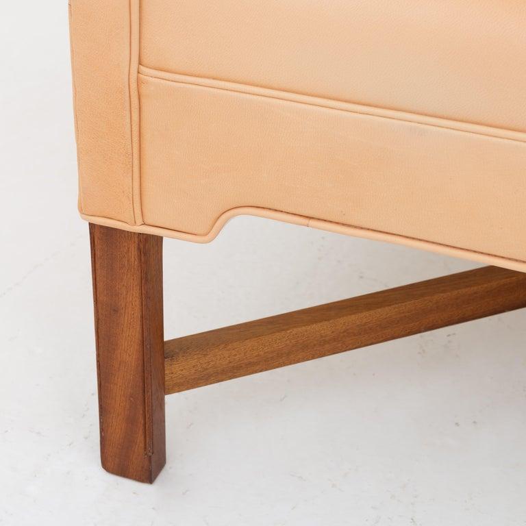 KK 4118 3-Seat Sofa in Niger Leather by Kaare Klint In Good Condition For Sale In Copenhagen, DK