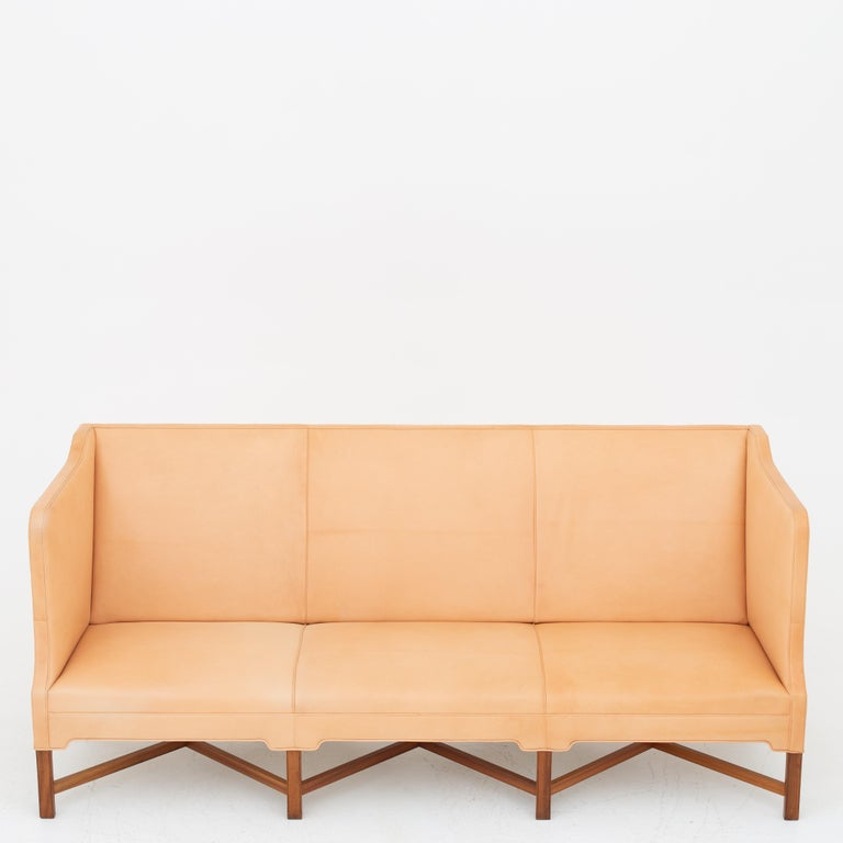 KK 4118 3-Seat Sofa in Niger Leather by Kaare Klint For Sale 2