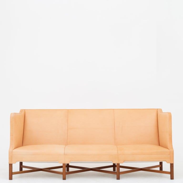 KK 4118 3-Seat Sofa in Niger Leather by Kaare Klint For Sale 3