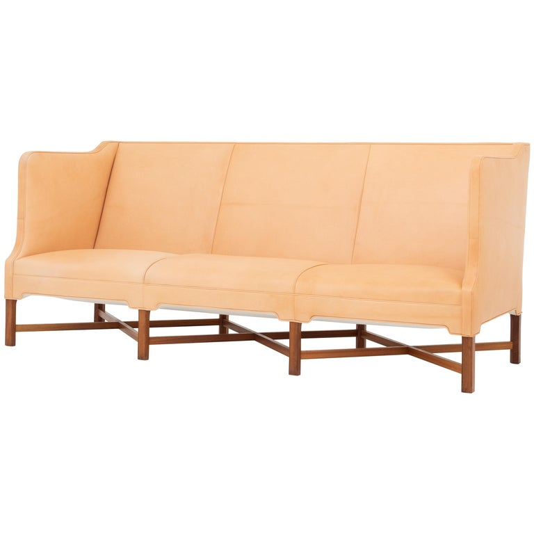 KK 4118 3-Seat Sofa in Niger Leather by Kaare Klint For Sale