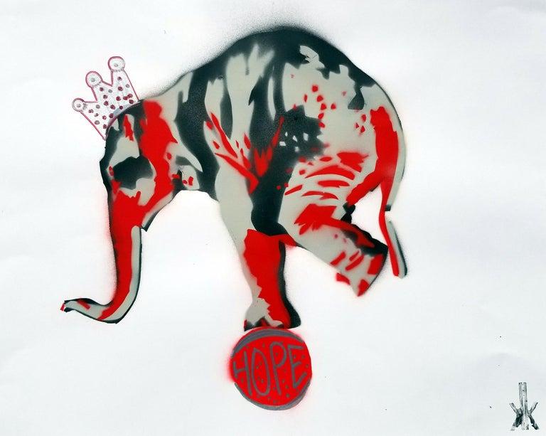 K.K. Animal Painting - Elephant: HOPE