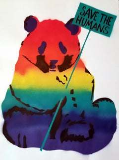 Panda rainbow SAVE THE HUMANS