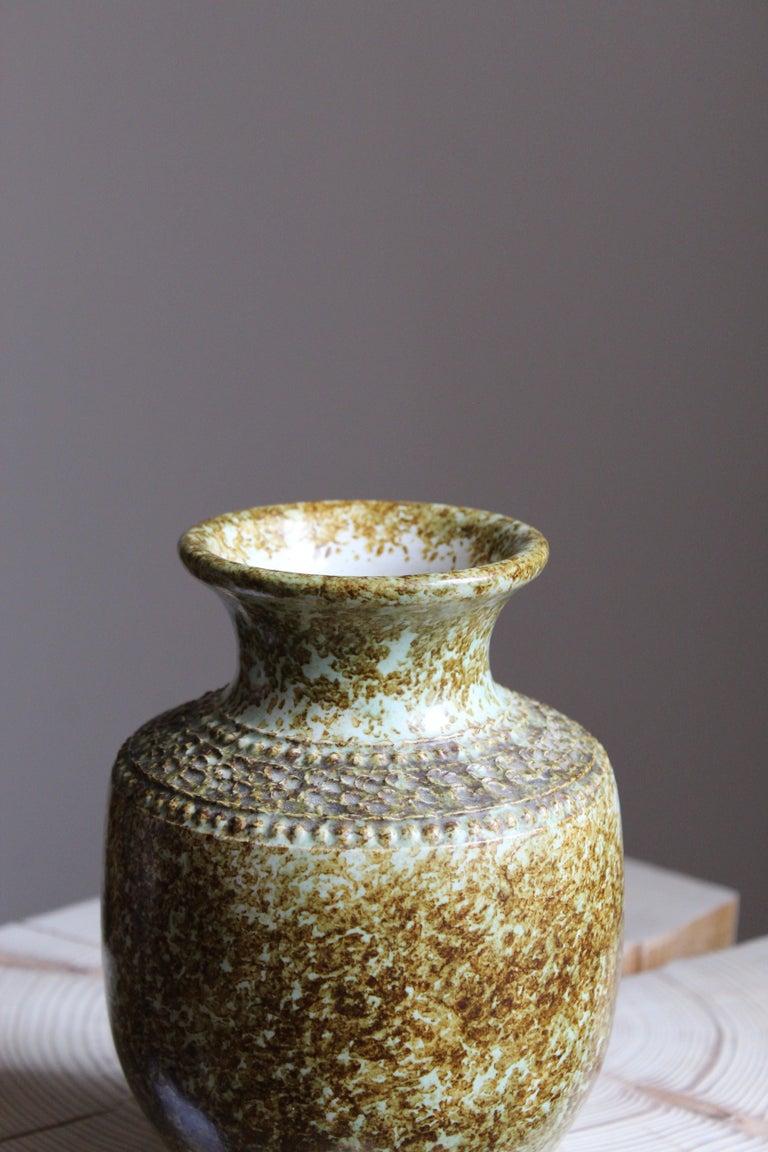 Swedish Klase Höganäs, Vase, Glazed Stoneware, Sweden, 1950s For Sale