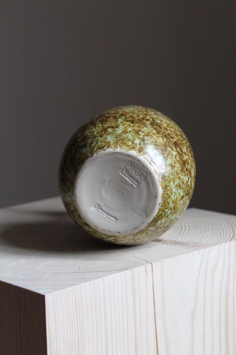 Klase Höganäs, Vase, Glazed Stoneware, Sweden, 1950s In Good Condition For Sale In West Palm Beach, FL