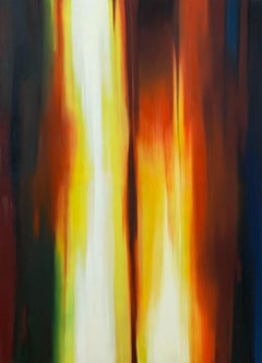 Untitled - Contemporary oil abstract painting, Colorful, Vibrant
