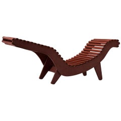 Klaus Grabe Sculptural Red Chaise Lounge