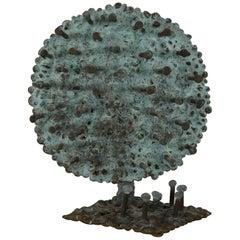 "Klaus Ihlenfeld Abstract Bronze ""Sunflower"" Sculpture, 20th Century"