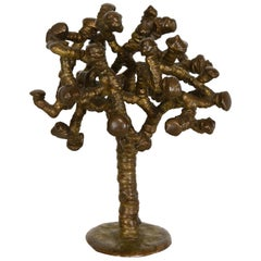 """Klaus Ihlenfeld Abstract Patinated Brass """"Tree"""" Sculpture, 20th Century"""