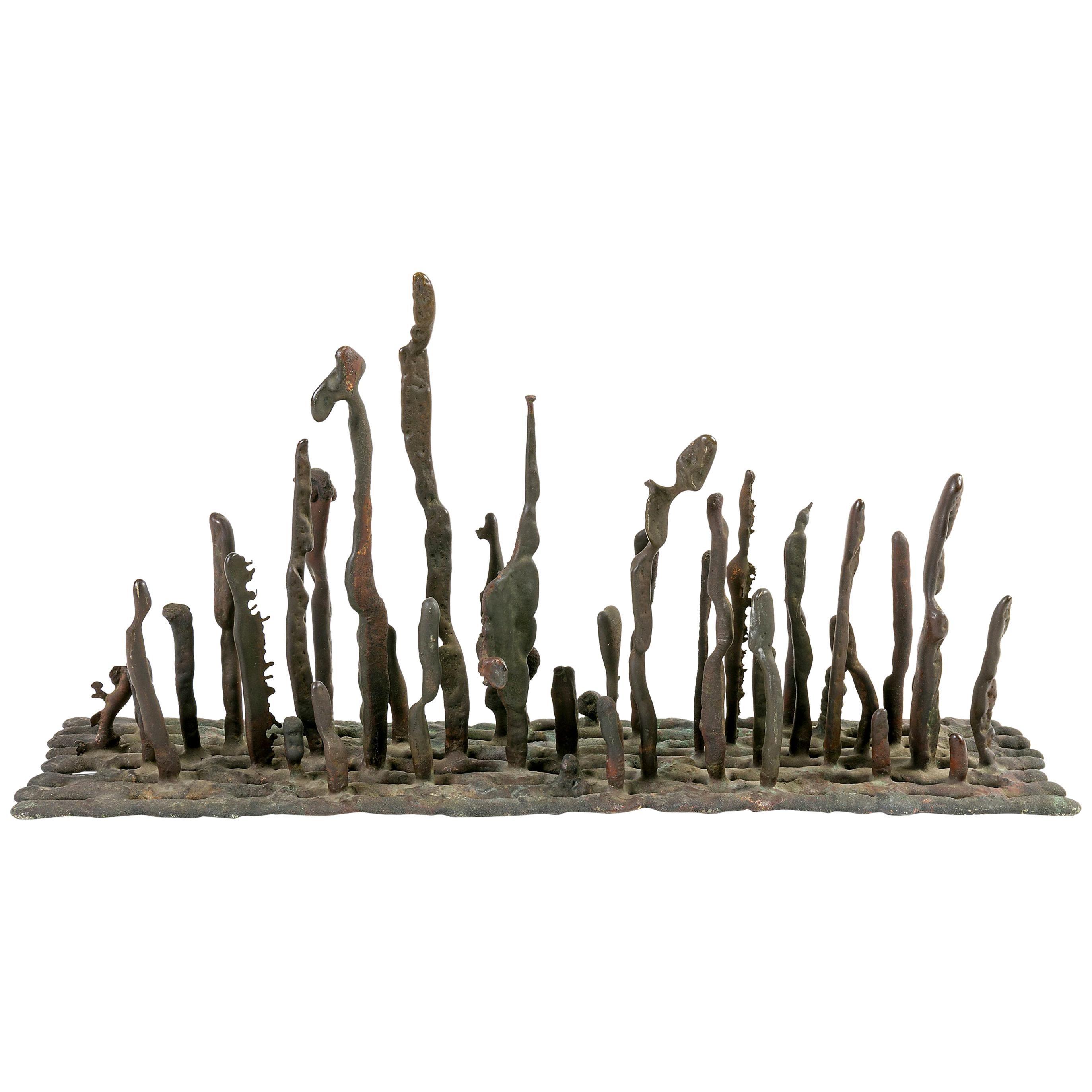 Klaus Ihlenfeld Bronze Platform Sculpture, USA 1950s