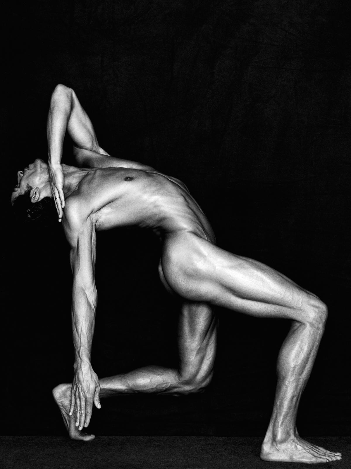 110.03.98, More Typographic Creations series (Male Dancer Photograph)