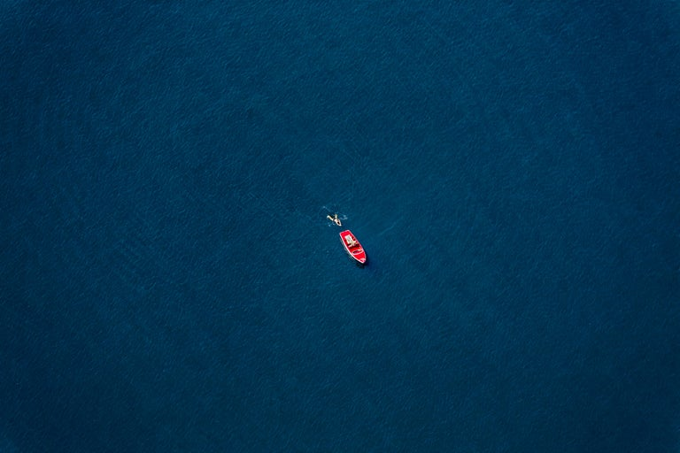 Klaus Leidorf Color Photograph - Lost 3 - Aerial photography