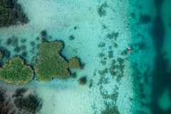 Red swimwear - Aerial color photography