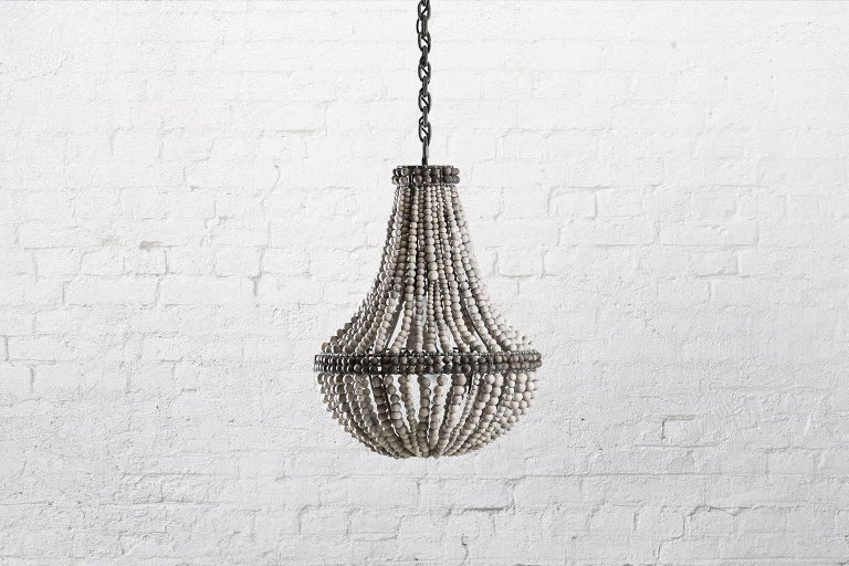 Klaylife Sash, Large, Grey Handmade Clay Beaded Chandelier/Hanging Light,  In New Condition For Sale In Brighton, Victoria