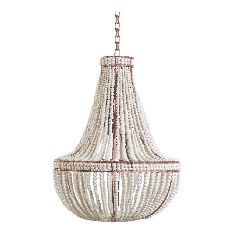 Klaylife Sash, Rose Gold Clay Beaded Chandelier/Hanging Light, 21st Century