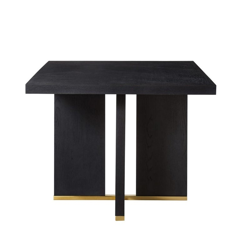 English Klein Dining Table in Solid Poplar Wood For Sale