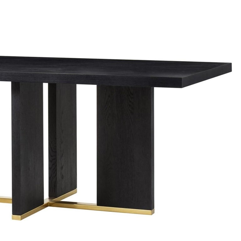 Klein Dining Table in Solid Poplar Wood In New Condition For Sale In Paris, FR