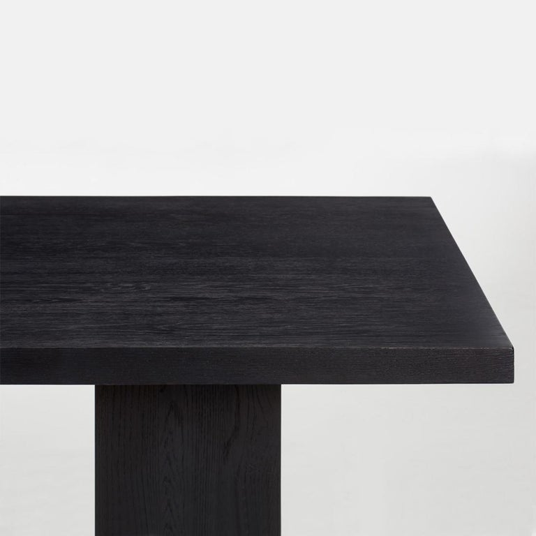 Contemporary Klein Dining Table in Solid Poplar Wood For Sale