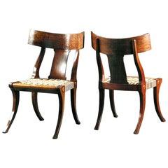 The Jamb Klismos Chair Greek Revival