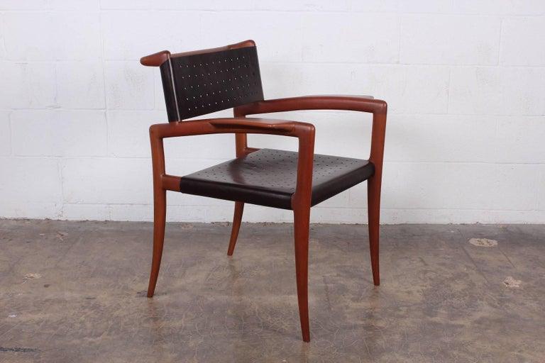 A rare sculptural klismos armchair designed by Charles Allen for Regil de Yucatan in 1952.