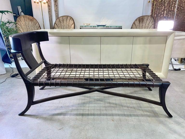 Mid-Century Modern Klismos Chaise For Sale