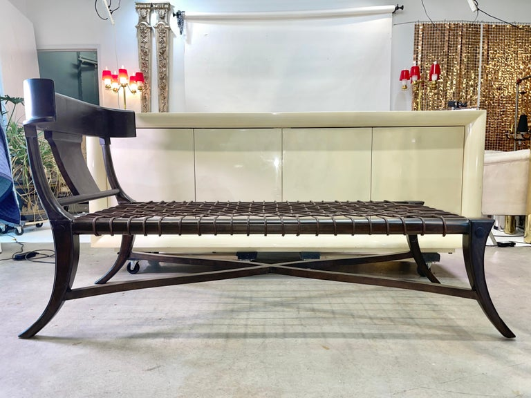 American Klismos Chaise For Sale