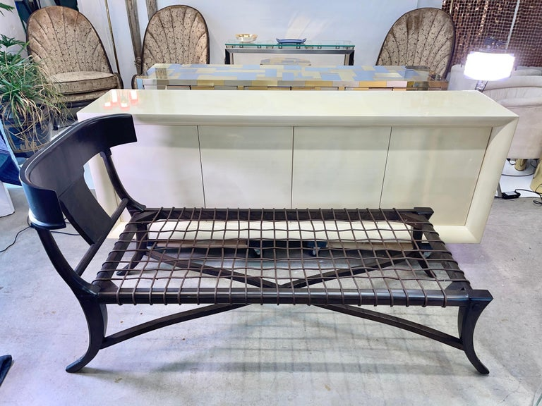 Stained Klismos Chaise For Sale