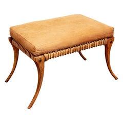 Klismos Style Type Bench After T.H. Robsjohn Gibbings