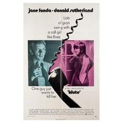 Klute 1971 U.S. One Sheet Film Poster