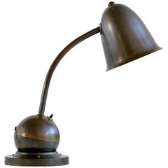 KMD Daalderop Art Deco Counterweight Desk Lamp with Bell Shade, 1935