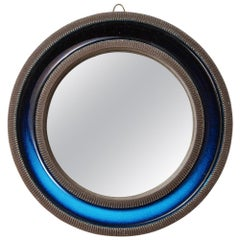 Knabstrup Mirror, Ceramic, Blue, Signed