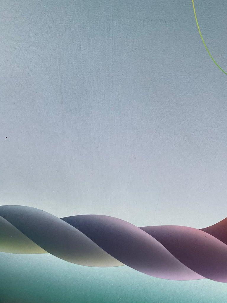 Stefan Knapp (1921-1996) grand composition oil on canvas painting.