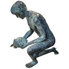 Kneeling Bronze Boy Fountain