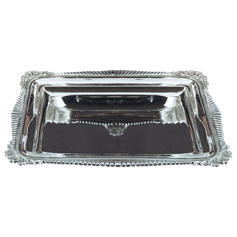 Knickknack Tray, Sterling Silver Rectangular Tray, Made in Italy