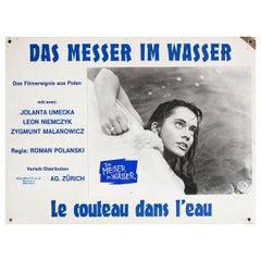 Knife in the Water 1962 Swiss Scene Card